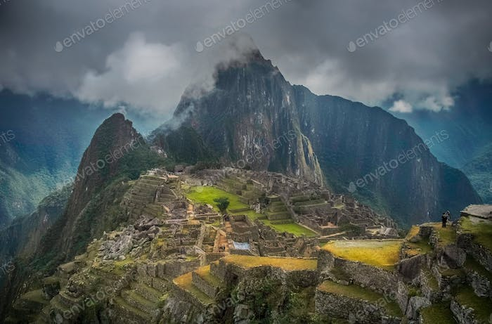 Ancient inca town of Machu Picchu