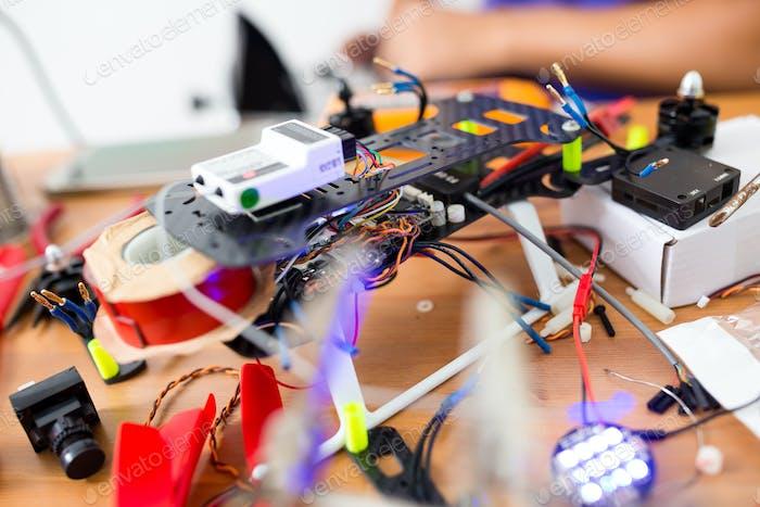 Drohne -Gebäude