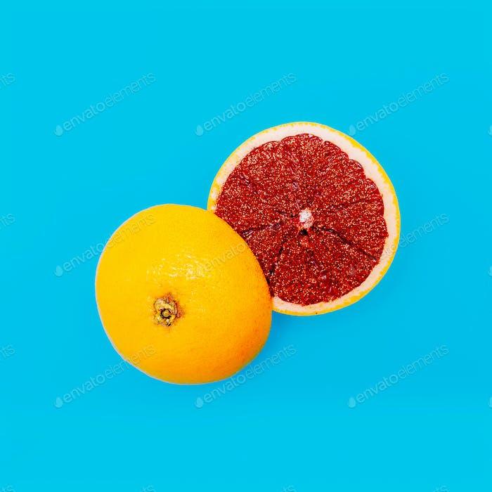 Citrus Grapefruit Minimal Art Still Life
