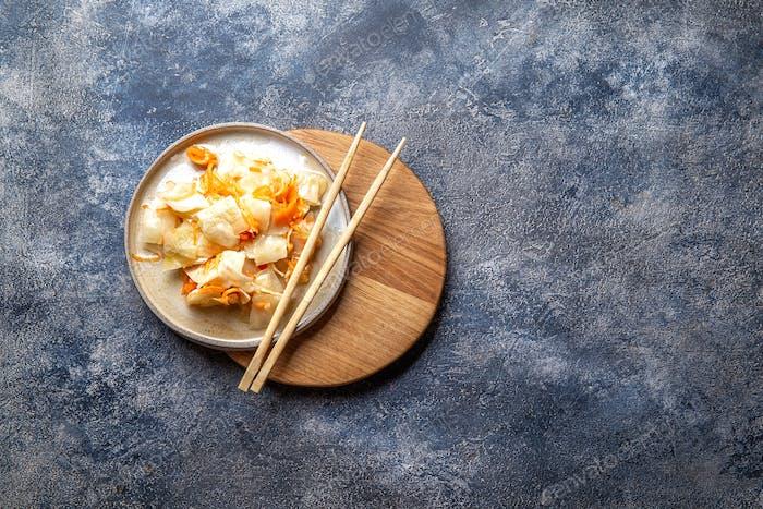 Corean-Kimchi. Fermentierter Spisy-Kohl