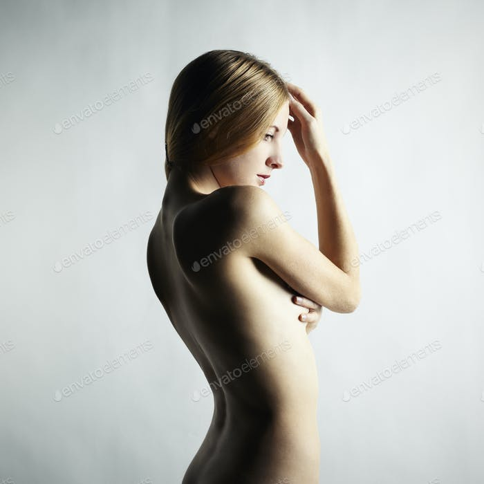 Fashion photo of beautiful nude woman