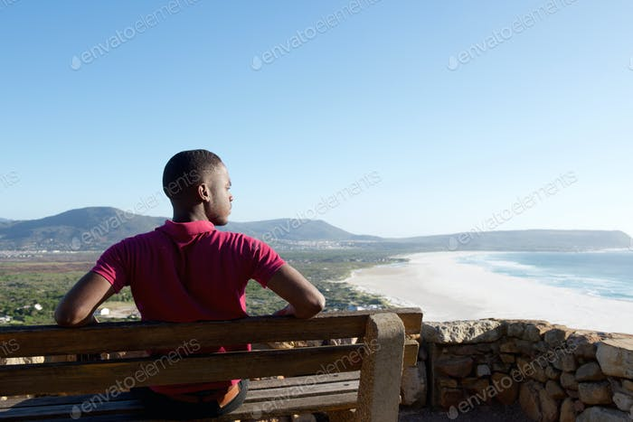Young african man on holiday