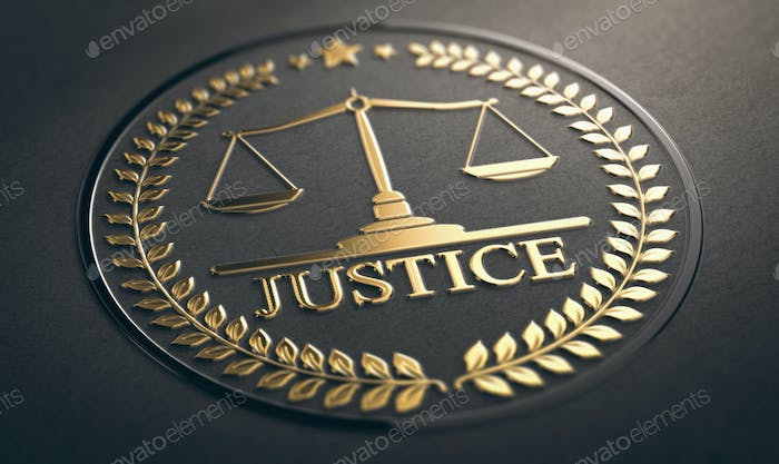 Thumbnail for Golden Justice Symbol