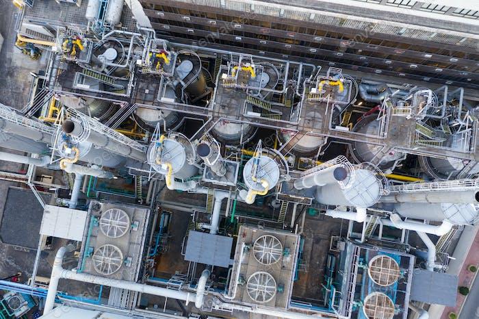To Kwa Wan, Hong Kong, 29 November 2018: Gas factory in Hong Kong