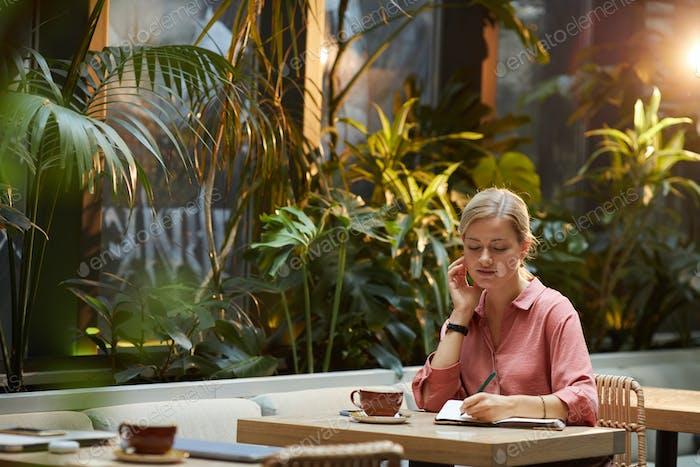 Coffee break in coffee shop