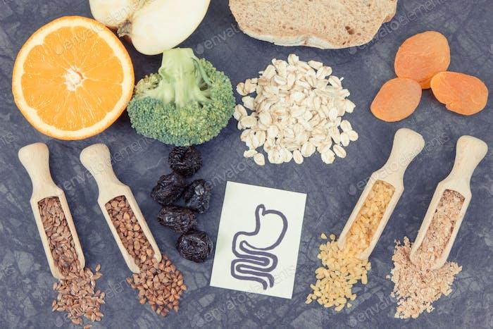 Produkte und Inhaltsstoffe als Quelle Ballaststoffe