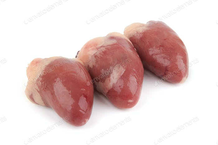 Raw chicken heart