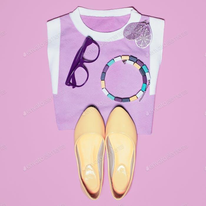 Summer bright pink look