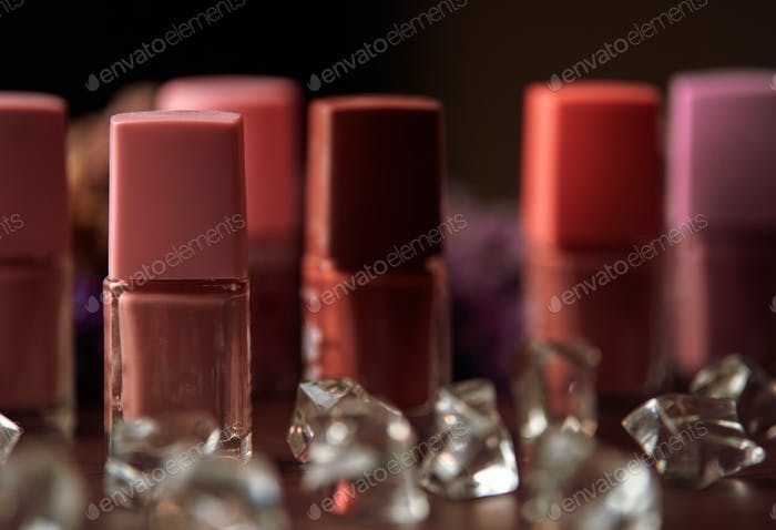 Close-up view of the bottle of nail polish
