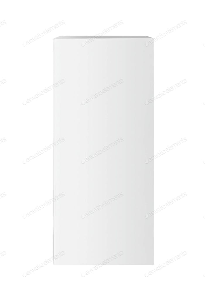 white box on white background