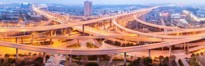 panoramic view of city interchange