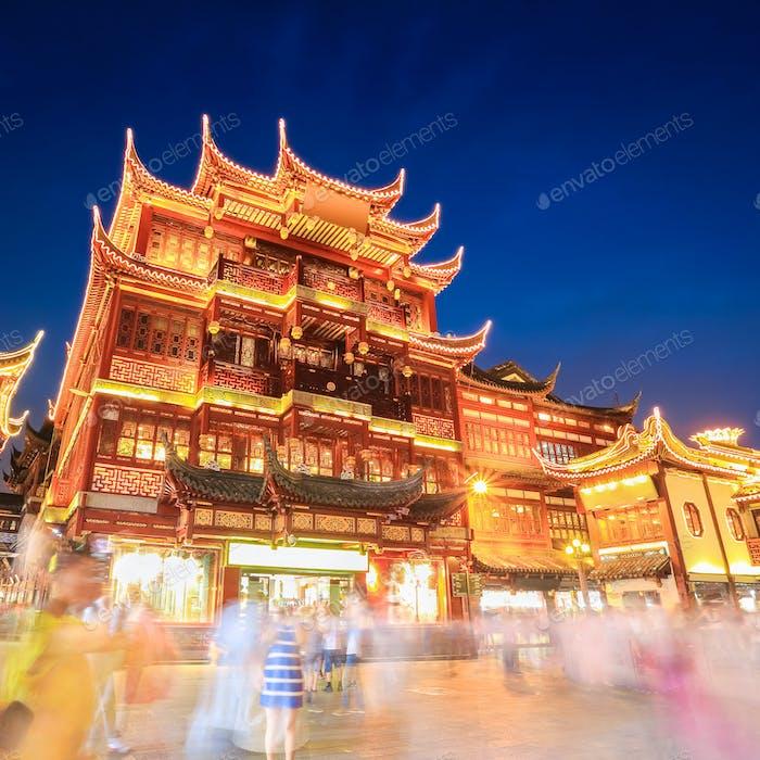 Shanghai Yuyuan Garten in der Nacht