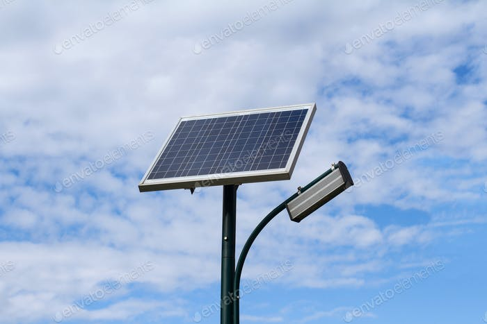Solar panel for city public illumination