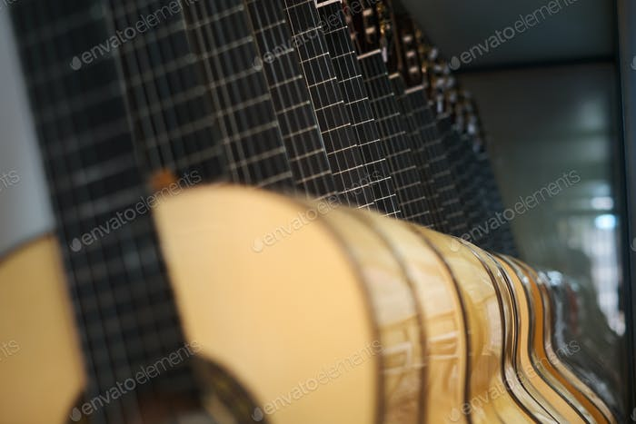 Classic Guitar For Flamenco In Lute Maker Shop