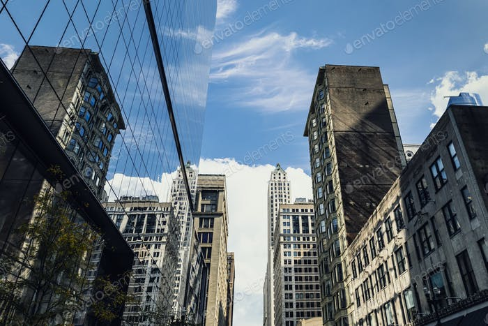 skyscrapers mirror
