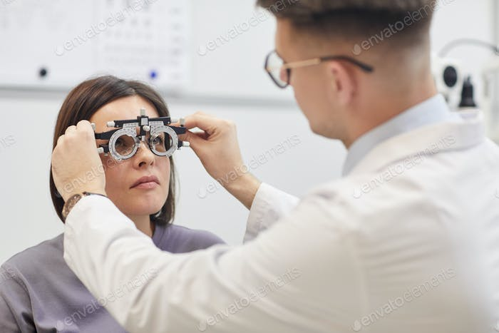 Glasses Fitting at Ophthalmologist Office