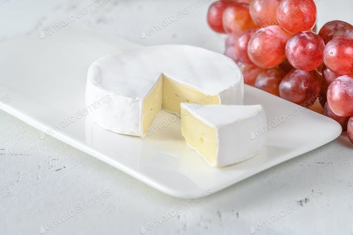 Camembert on the serving plate