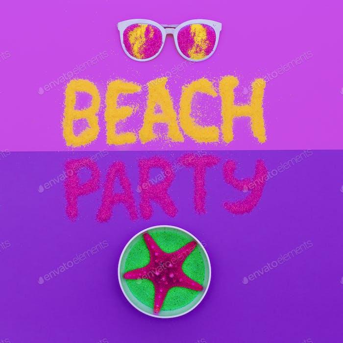 Beach party vibes Set Minimal fashion art