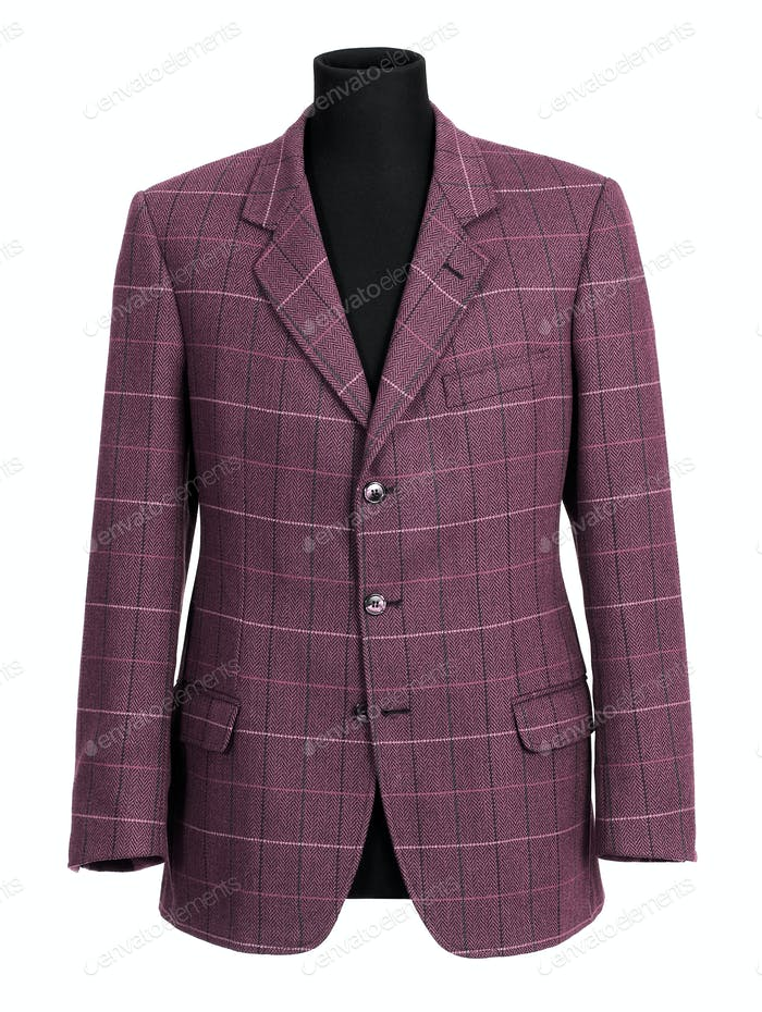 Purple tailored jacket on mannequin