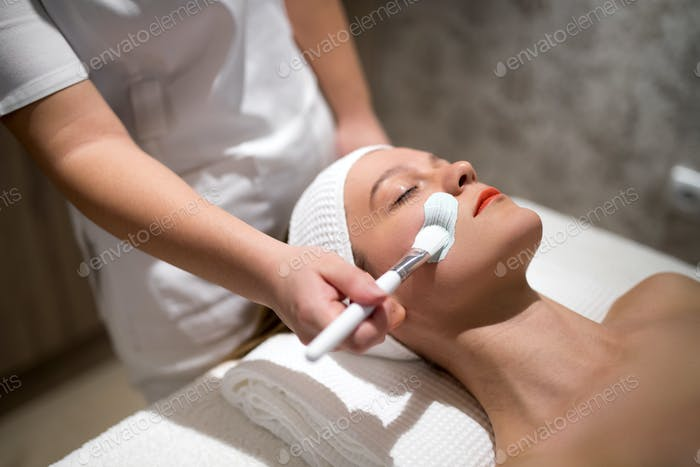 Skin care and cleanse therapy at massage