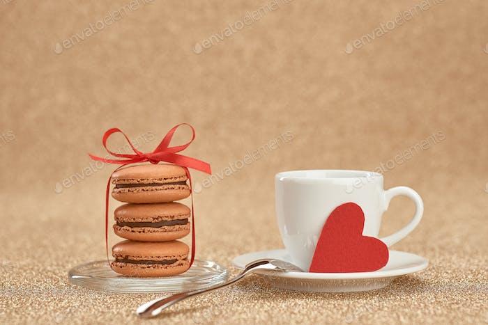 Macarons, love