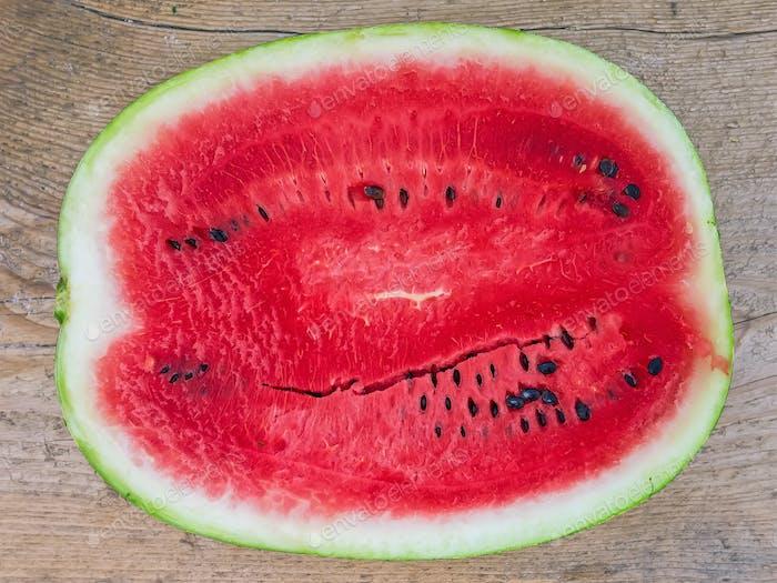 A half of ripe water-melon