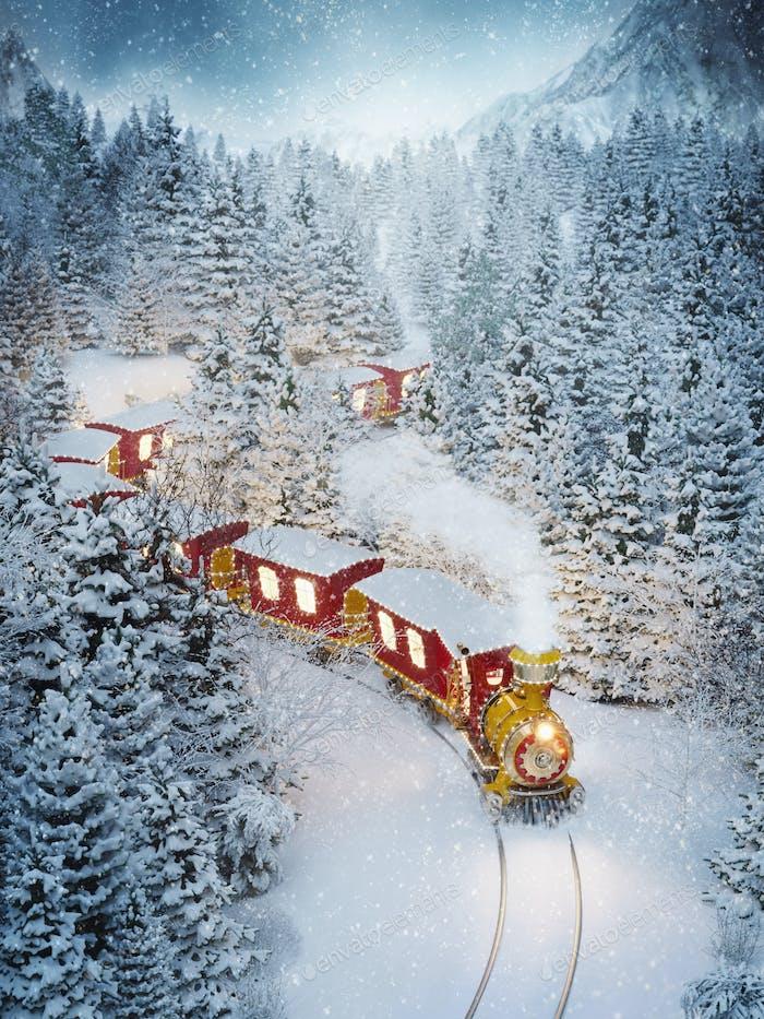 Toller süßer Weihnachtszug