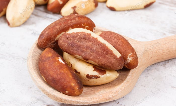 Brazil nuts containing natural minerals and vitamin