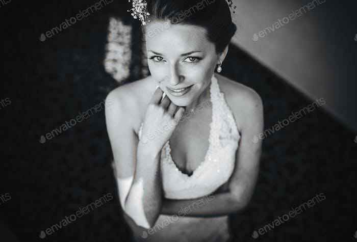 Braut posiert