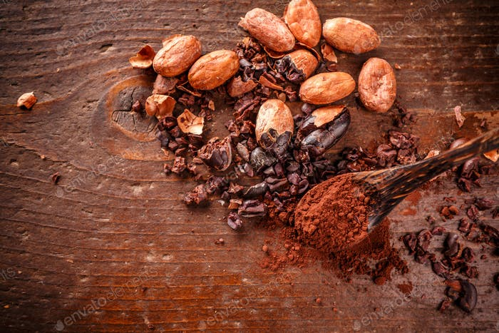 Composition of cacao nibs
