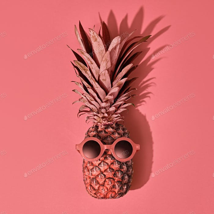 Pineapple Fruit Fashion. Tropical Party Mood