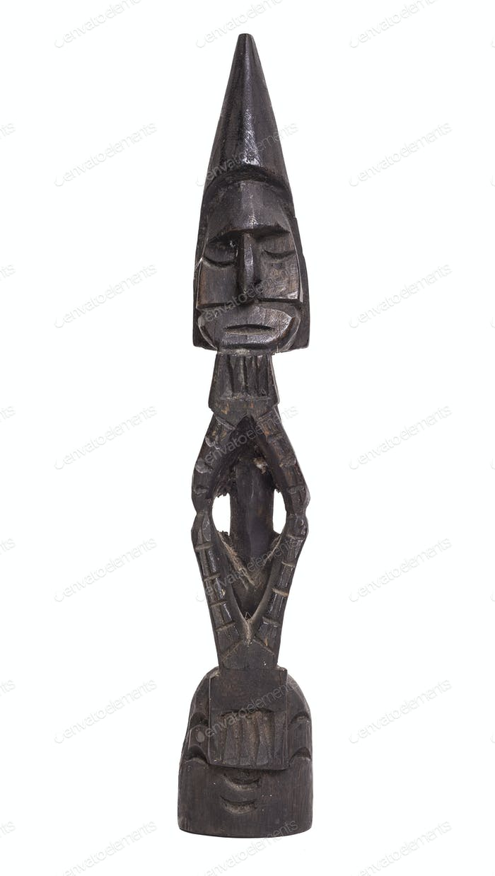 Traditional statuette from Irian jaya, isolated on white