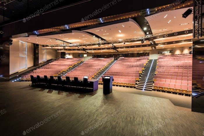 Lecturers' platform in academy's auditorium
