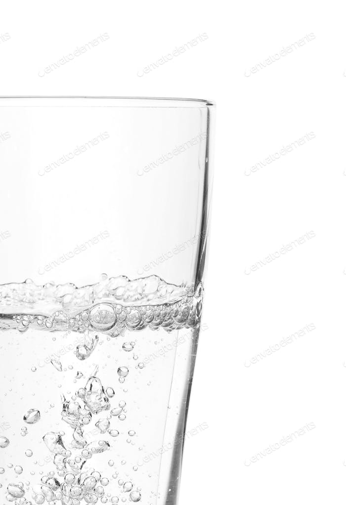a Glass of water isolated on white background
