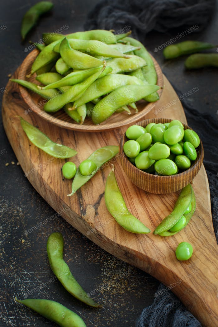 Grüne Bio Edamame Bohnen