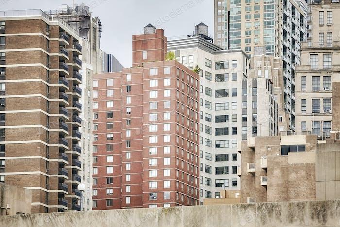 View of Manhattan buildings, New York City, USA.