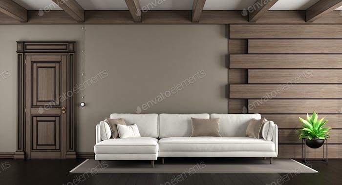 White sofa in a elegant living room