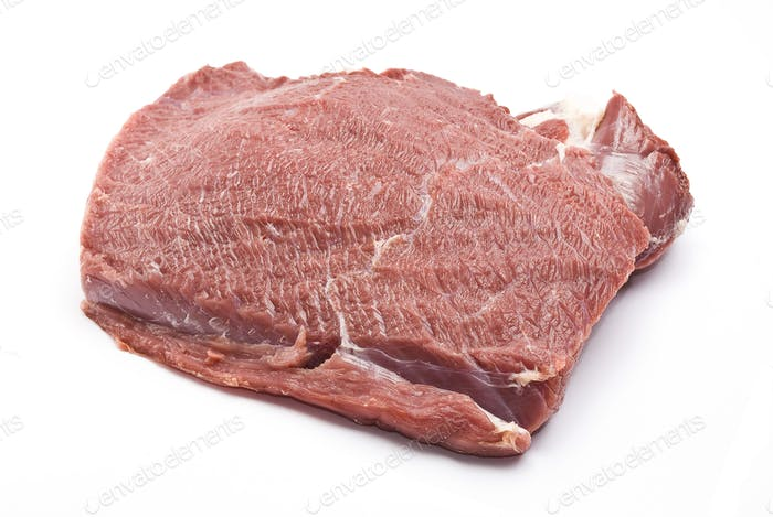 Fresh raw beef piece