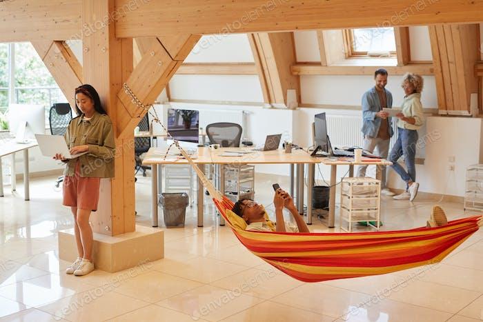 Relajarse en la oficina