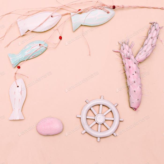 Ocean, beach, sun, vibes. Minimal art gift set