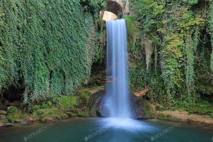 Fairy Tale waterfall in Tobera, Spain.