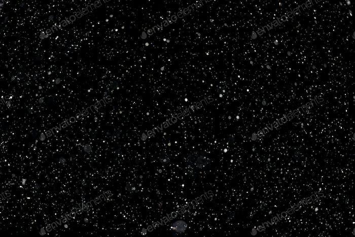 Shiny dust on black background, overlay layer