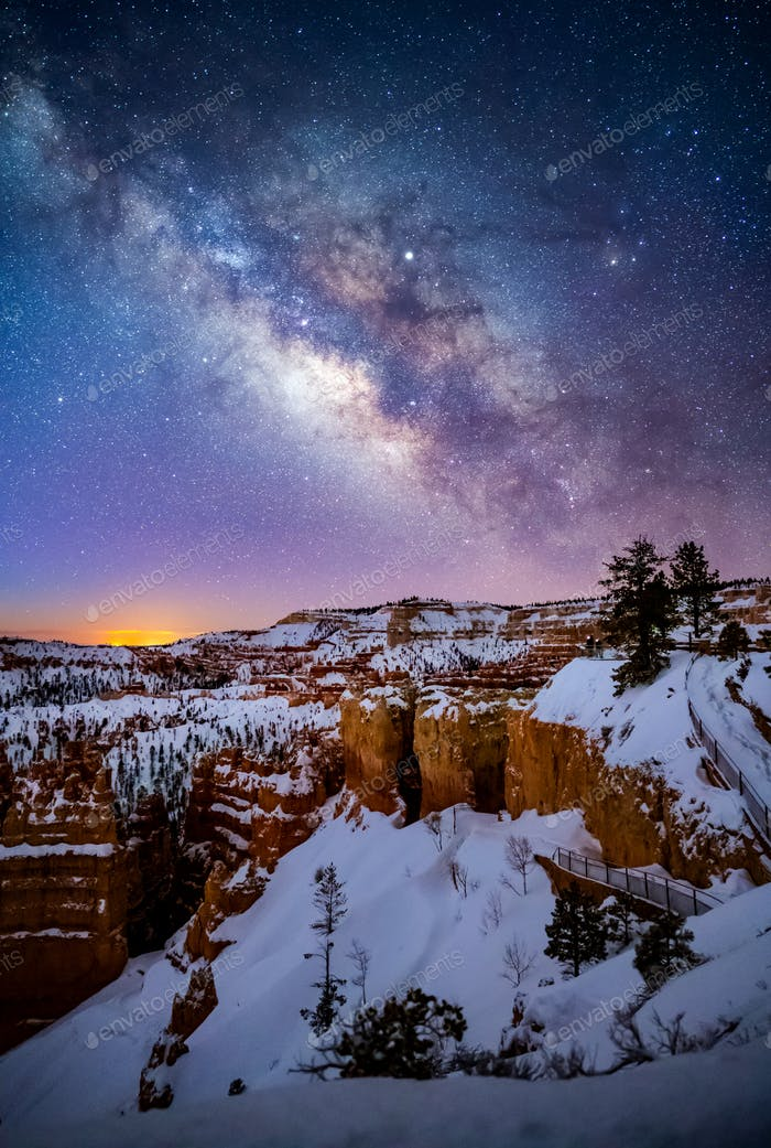 Milky Way over Bryce Canyon National Park, Utah, USA