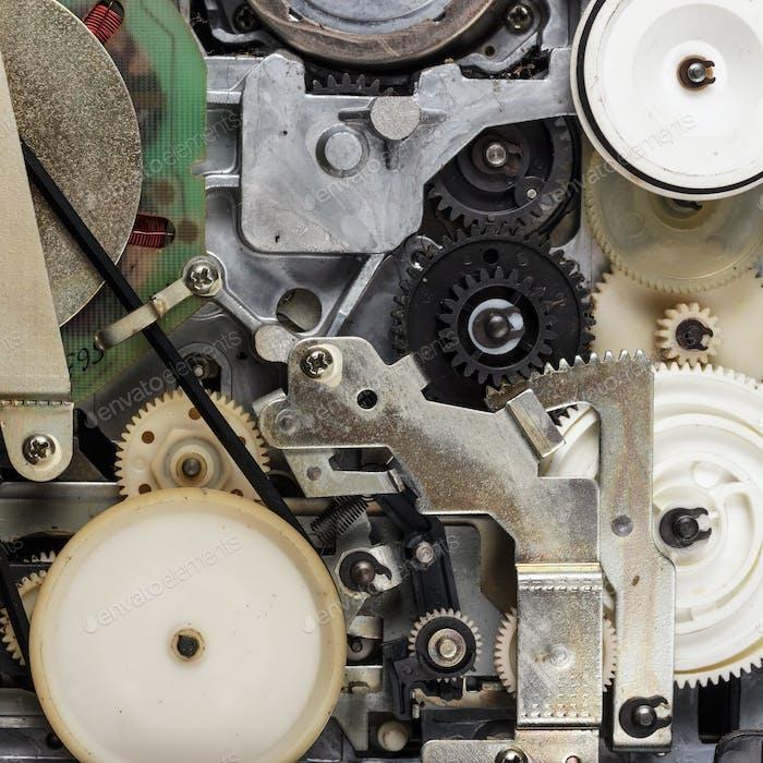 Retro Video Cassette Recorder Mechanism