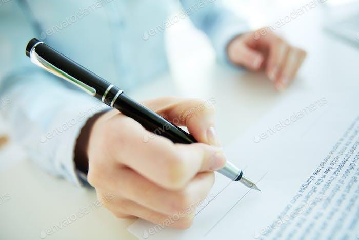 A punto de firmar