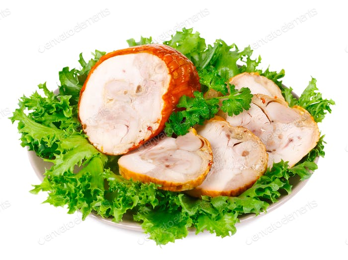 Smoked Chicken Roulade with Salad
