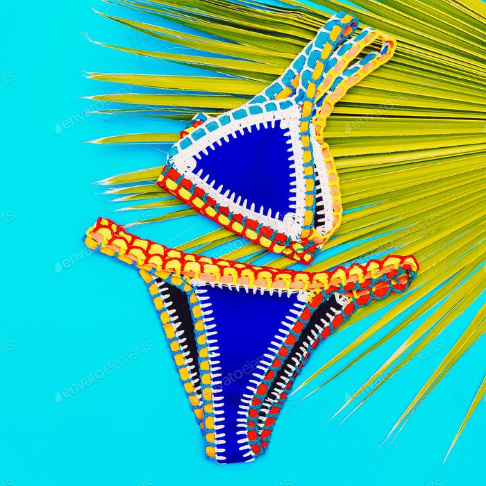 Beach time. Vacation. Stylish Bikini for Girls