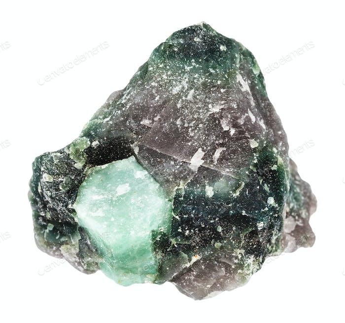 Kristall von Beryl Edelstein in Stein isoliert