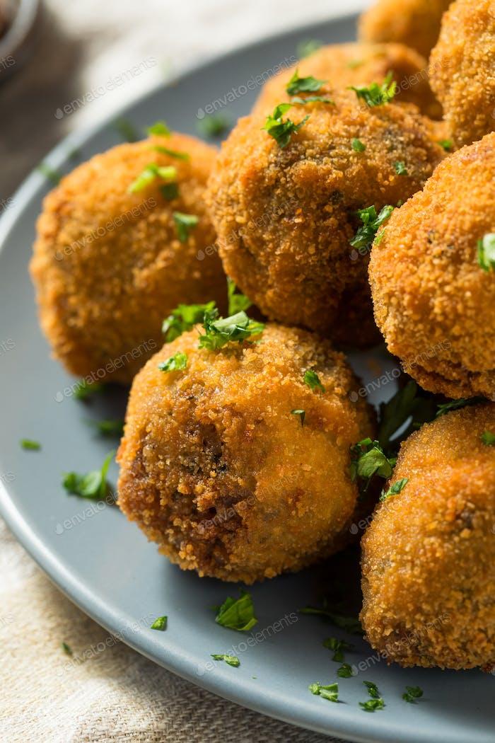 Fried Homemade Dutch Bitterballen