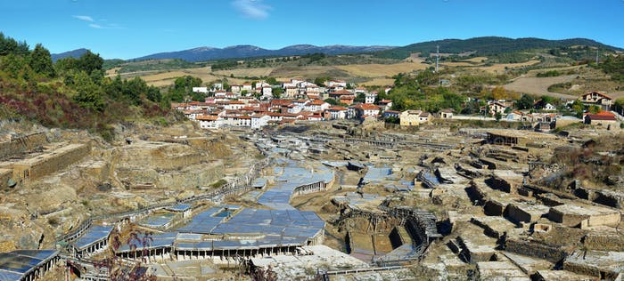 Salt valley of Anana, in Alava, Spain